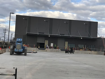 The new warehouse at Austin State Hospital will serve both the hospital and Austin State Supported Living Center. Photo from September 2020.