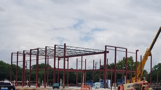 Austin State Hospital warehouse construction