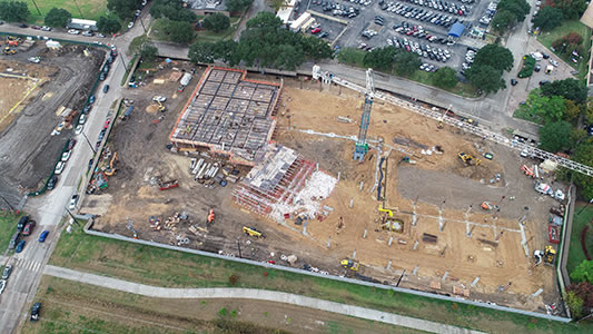 Construction at the UTHealth Houston Continuum of Care Campus