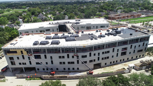 The new hospital is 50 percent completed in this photo from September 2020.