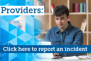 Provider Self-reporting of Incidents
