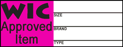 WIC Approved Item Table Image